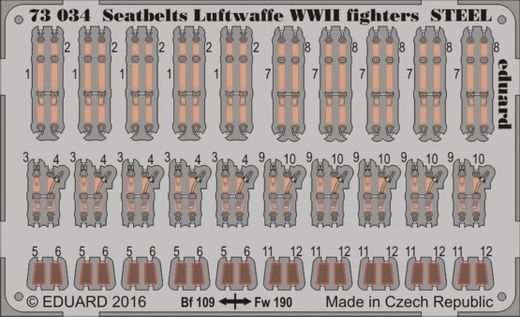 Seatbelts Luftwaffe WWII fighters STEEL 1/72