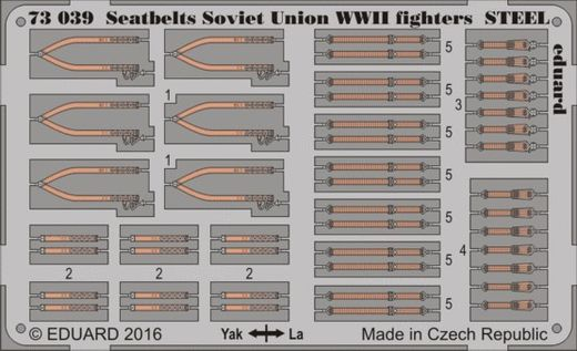 Seatbelts Soviet Union WWII fighters STEEL 1/72