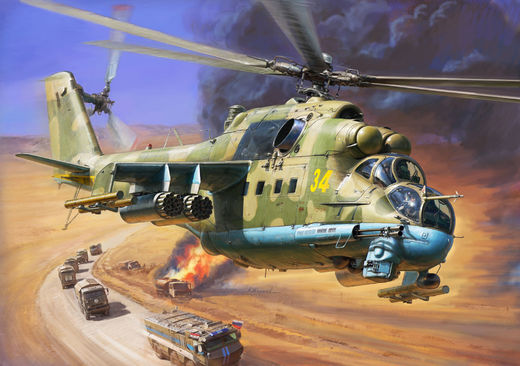 Russian Mil Mi-24P Hind attack helicopter  1/72