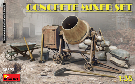 Concrete mixer set  - betonimylly 1/35
