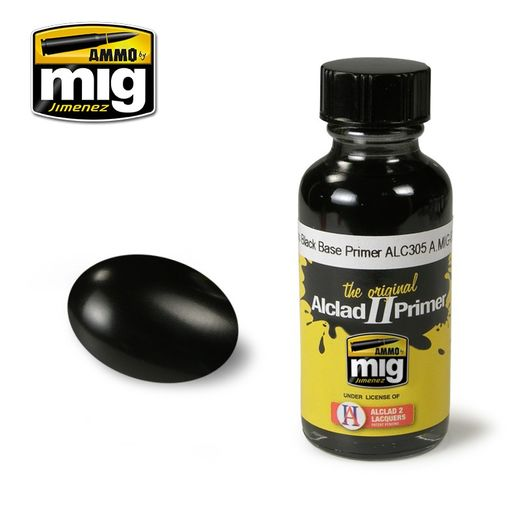 ALCLAD II - AMMO METALLIC PAINTS GLOSS BLACK BASE PRIMER ALC305