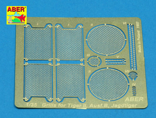 Grilles for Panzer VI King Tiger Sd.Kfz.182 and JagdTiger 1/35