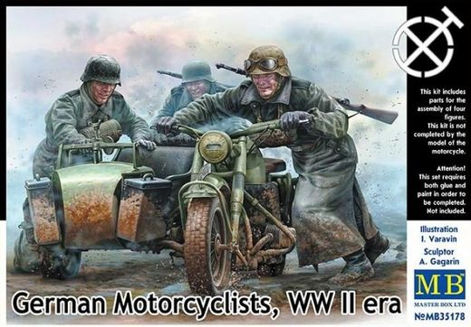 WW2 German motorcyclists 1/35