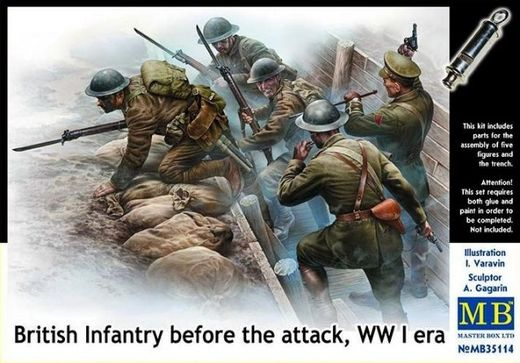 WW1 British Infantry before the attack 1/35