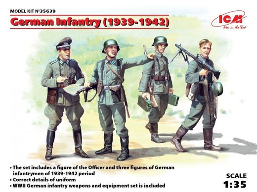 German Infantry (1939-1942) (x4 fig) 1/35