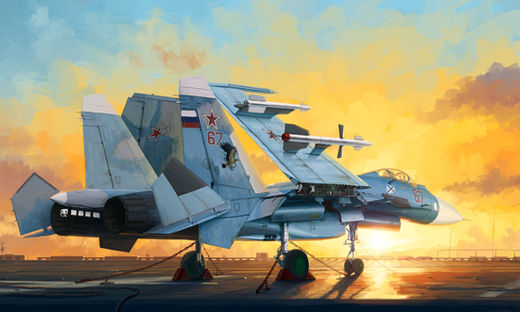 Sukhoi SU-33 Flanker-D & flight deck 1/72