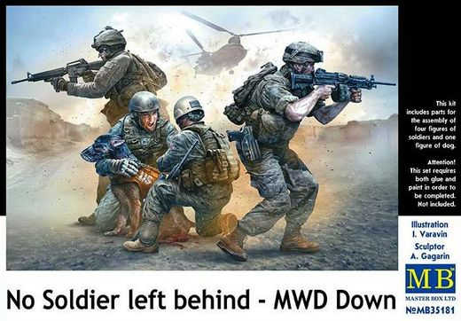 US Infantry - No Soldier left behind - MWD Down 1/35