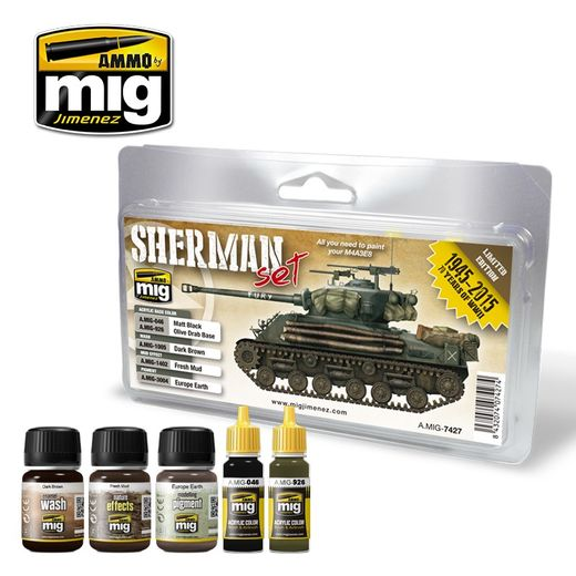 FURY SHERMAN  WEATHERING SET
