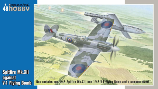 Spitfire Mk.XII against V-1 Flying Bomb