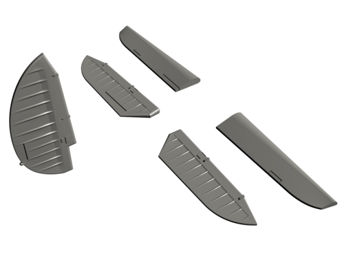 SB2C-4 Helldiver – 1/72 Control Surfaces Set for Academy