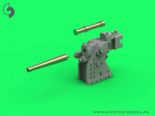 French training gun 90mm Model 1935 - used on Richelieu and Dunkerque class - (resin, PE and turned parts) - (4pcs)