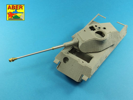 Barrel for German 8,8cm Kw.K 43 (L/71) gun used on Tiger B Porsche turret-late  1/35 Takom model