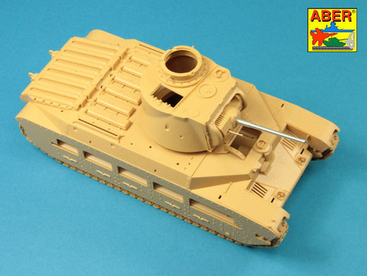 Late barrel for Valentine Mk.II to VII or Matilda Mk.III/IV with Besa MG barrel 1/35 Tamiya, MiniArt