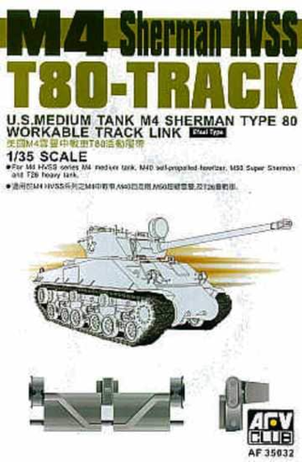 SHERMAN HVSS T80 Tracks 1/35