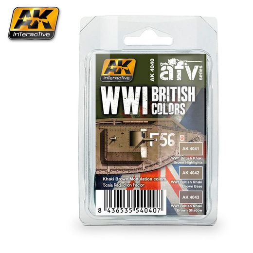 WWI BRITISH COLORS (Khaki Brown Modulation Set) - AKRYYLI