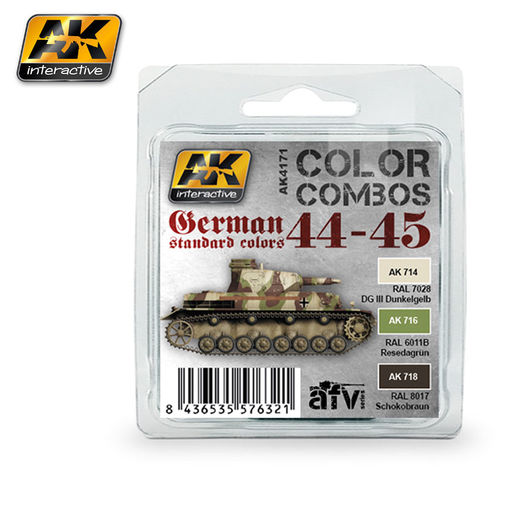 GERMAN STANDARD 44-45 COLOR COMBO - ACRYLIC