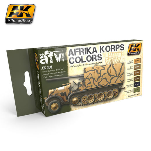 AFRIKA KORPS COLORS SET - AKRYYLI