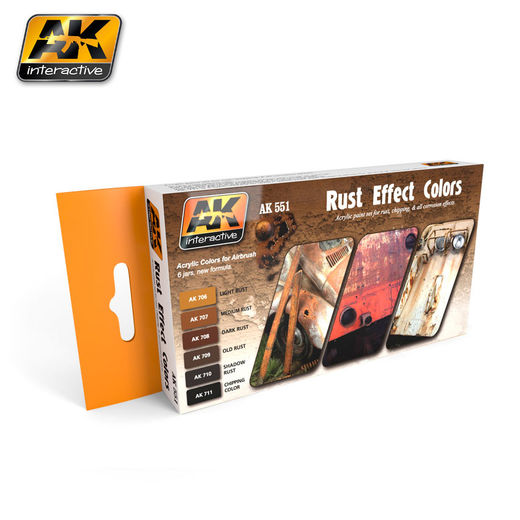 RUST EFFECTS COLORS SET - AKRYYLI
