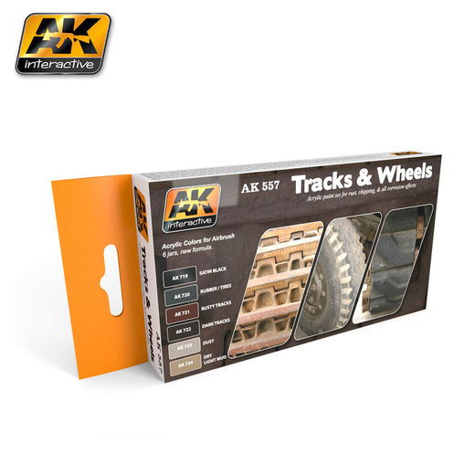 TRACK AND WHEELS COLORS SET  - AKRYYLI