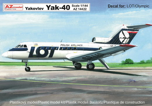 "Yakovlev Yak-40 ""LOT, Olympic Airways"" 1/144"