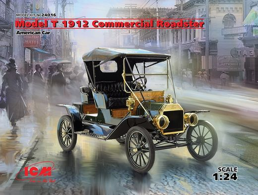 Ford Model T 1912 Commercial Roadster 1/24