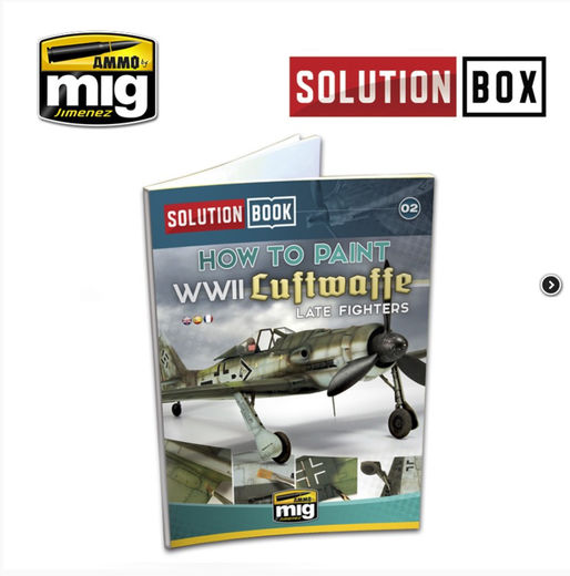 WWII LUFTWAFFE LATE FIGHTERS SOLUTION BOOK (Multilingual)