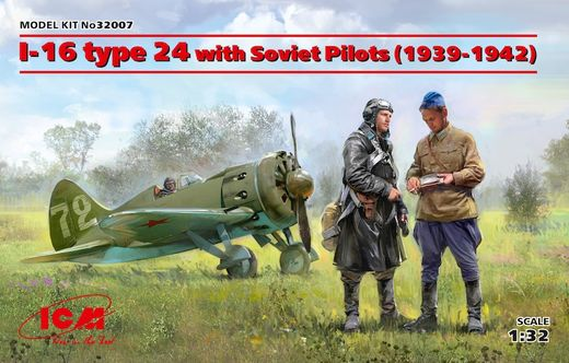 Polikarpov I-16 type 24 with Soviet Pilots (1939-1942) 1/32