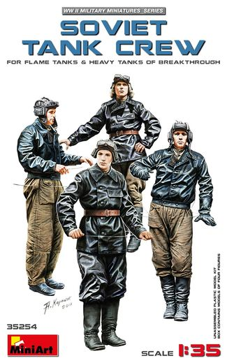 WW2 Soviet tank crew (for Flame-thrower & Heavy Tanks) 1/35