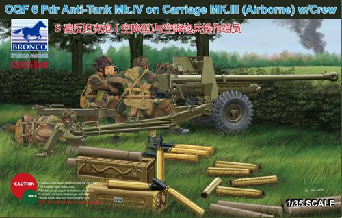 OQF 6 PDR Anti-Tank Mk.IV on Carriage MK.III(Airborna) w/Crew 1:35