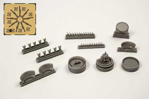 1/72 B-17G Engine Set (starboard side engine, 1pc) for Airfix kit