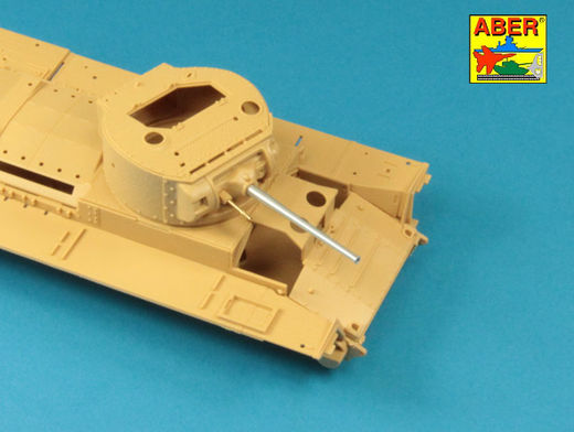 Early barrel for Valentine Mk.II to VII or Matilda Mk.III/IV with Besa MG barrel 1/35 Tamiya, MiniArt