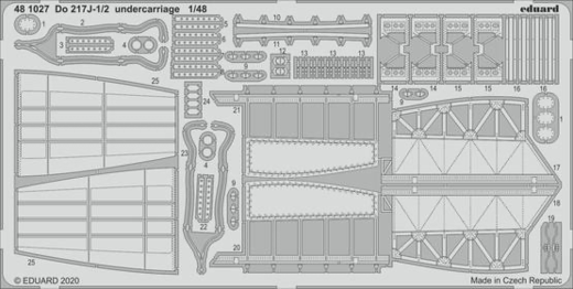 Do 217J-1/2 undercarriage 1/48  ICM