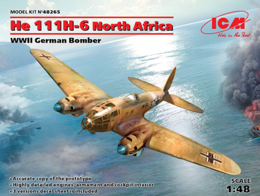 Heinkel He 111H-6 Luftwaffe  North Africa 1/48