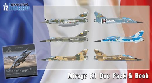Mirage F.1 Duo Pack & Book 1/72