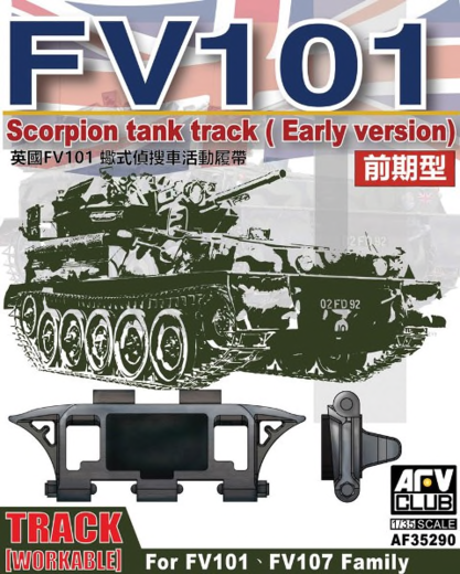 Scorpion/scimitar CVR Family Workable tr track (early type) 1/35