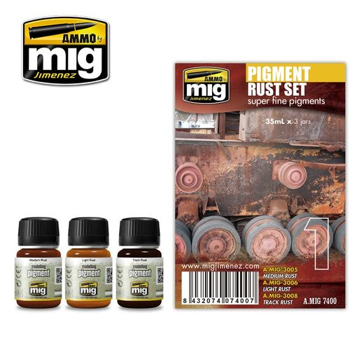 PIGMENT RUST   WEATHERING SET