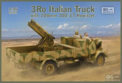 Lancia 3Ro Italian Truck with 100 mm 100/17 Howitzer 1/35