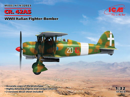 Fiat CR.42AS, WWII Italian Fighter-Bomber 1/32