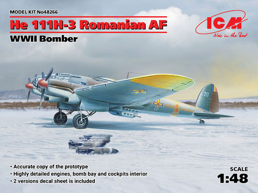 Heinkel He-111H-3 Romanian Air Force WWII Bomber 1/48