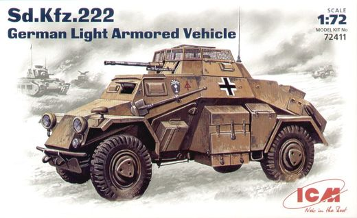 Sd.Kfz.222  Light Armoured Vehicle 1/72
