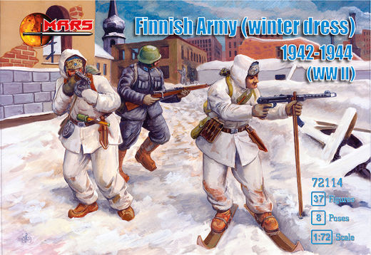 Finnish Army in winter dress 1942-1944 (WWII) 1/72