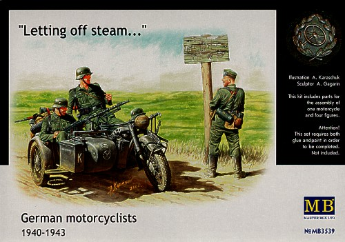 German motorbike & motorcyclists 1940-1943
