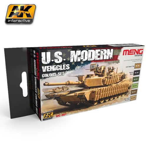 U.S. MODERN VEHICLES COLORS SET - AKRYYLI