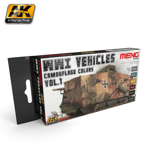 WWI VEHICLES CAMOUFLAGE COLORS VOL.1 - AKRYYLI