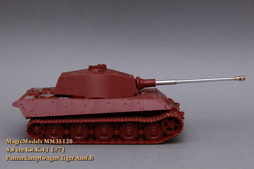 8,8 cm Kw.K.43 L/71. Panzerkampfwagen Tiger Ausf.B. With rifled bore. 1/35