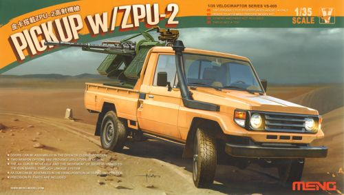 Toyota Hi-Lux Pick-up with ZPU-2 1/35