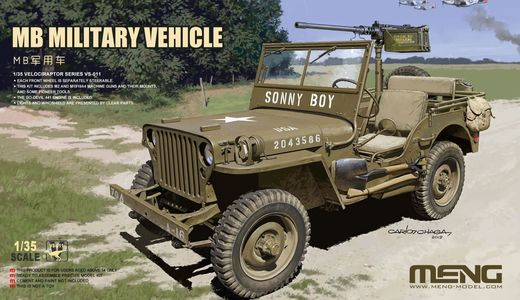 Willys Jeep MB Military Vehicle 1/35