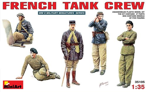 WW2 French Tank Crew 1/35