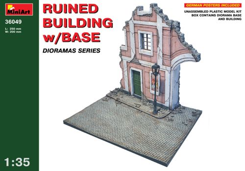 Ruined building with base 1/35