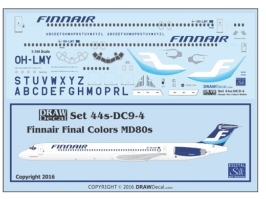 Finnair Final Colors MD80s - Siirtokuvat / decals 1/144